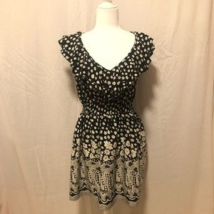 America Rag black and white floral dress